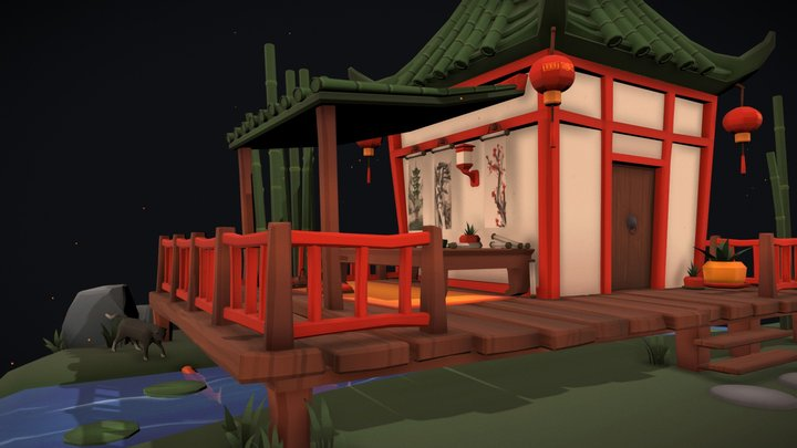 Chinese Painter's Little House - DAE Villages 3D Model