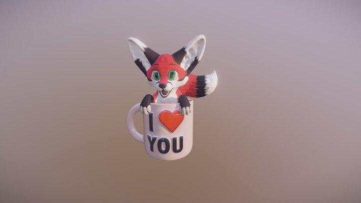 A Cup of Fox 3D Model