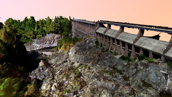 Jordan River Dam 3D Model