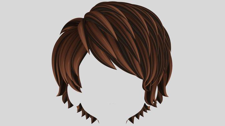 Anime hair (Pixie Style) 3D Model