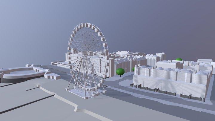 Worthing Observation Wheel 3D Model