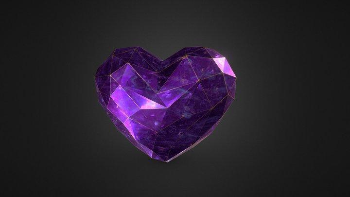 crystal heart 3D Model
