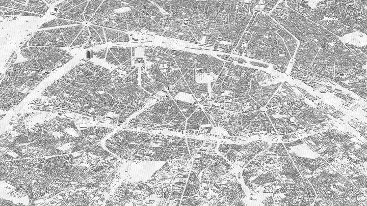 PARIS CITY 3D 3D Model