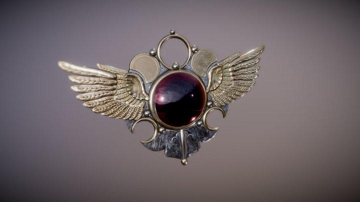 Winged pendant (jewelry) 3D Model