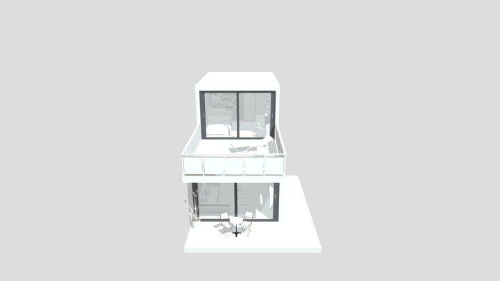 Modern Wooden Tiny House 3D Model