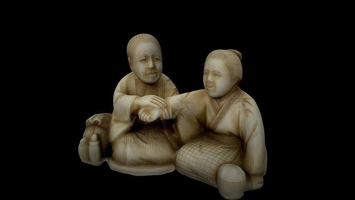 Ivory netsuke, Japan -  Science Museum, London 3D Model