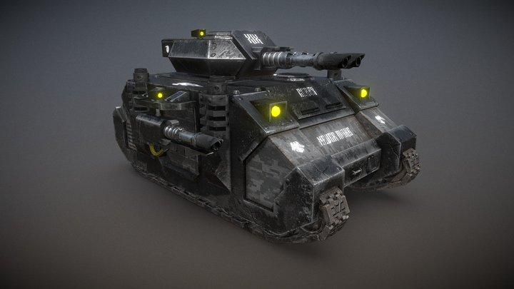 Battle Tank Predator Raven Guard Warhammer 40K 3D Model