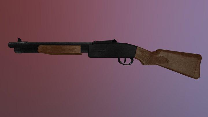 Low Poly Tootsietoy Dakota DOOM Shotgun 3D Model