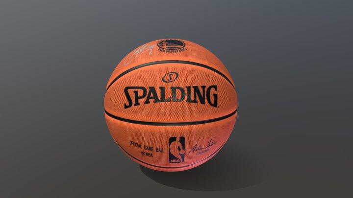 Stephen Curry Signed Golden State Warriors Ball 3D Model