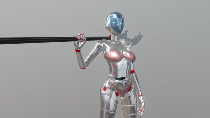 SA-ndRA_5 Halberd 3D Model