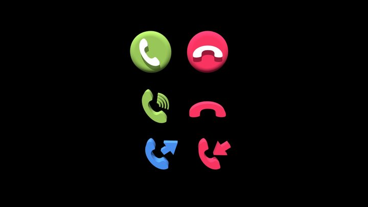 3D icons Phone/Call 3D Model