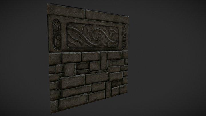 Trim texture stone wall 3D Model