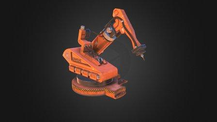 Sci-fi conveyor robot 3D Model