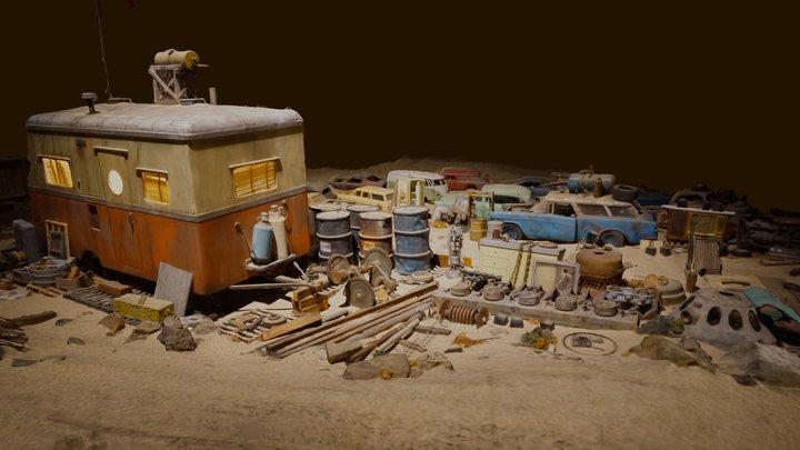 Desert Trailer 3D Model