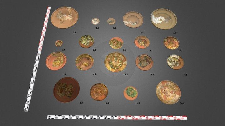 Ceramic plates 3D Model