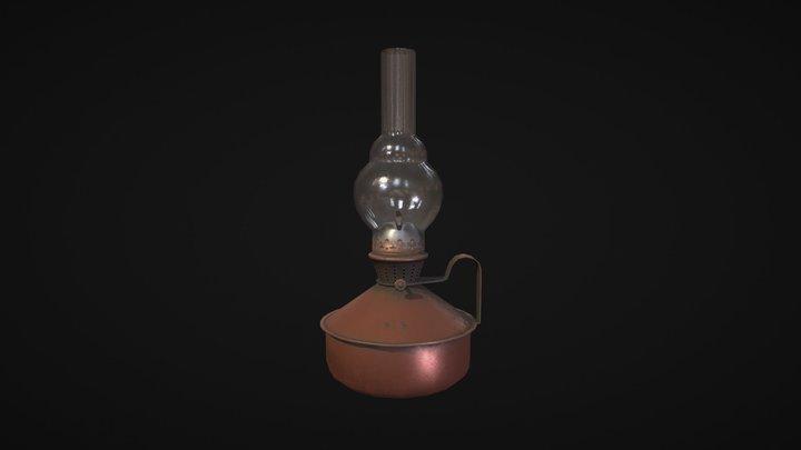 Oil Lamp lowpoly 3D Model