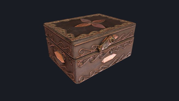 Vintage Handmade Jewelry Box - Photogrammetry 3D Model