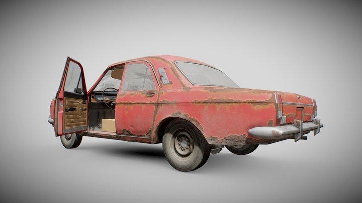 Old Soviet Car 3D Model