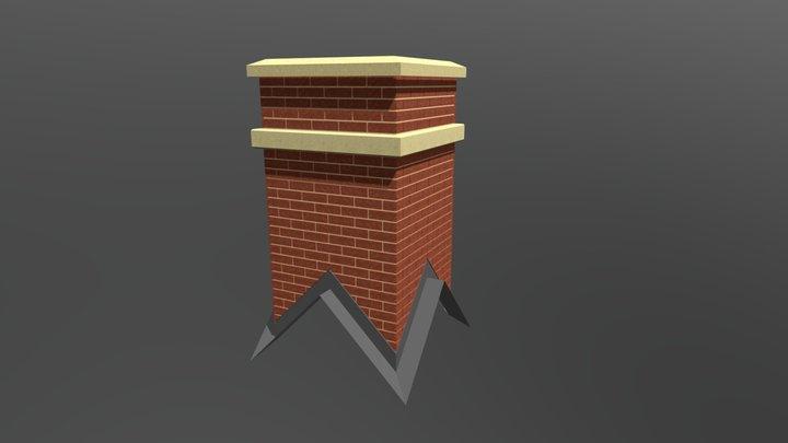 Quad Pitched Chimney 3D Model