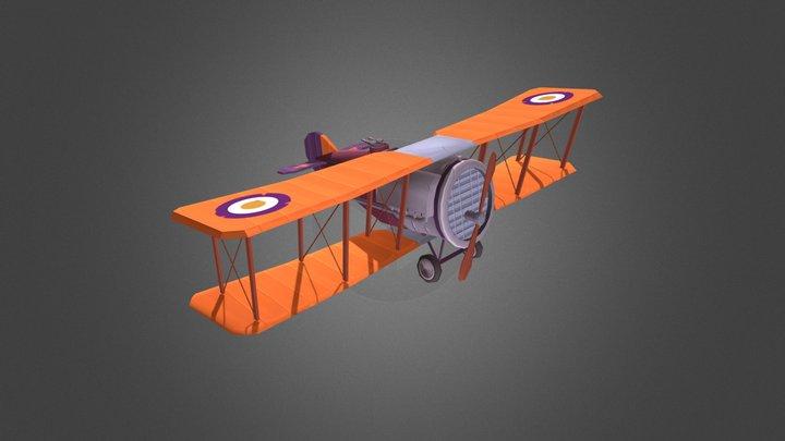Bristol Stylized Airplane 3D Model