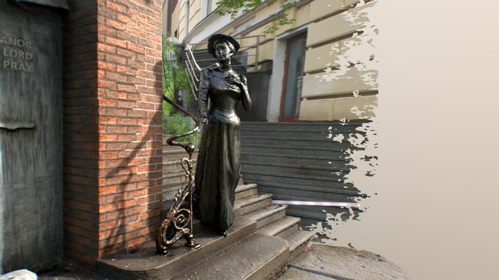 Eleanor Lord Pray monument Vladivostok, Russia 3D Model