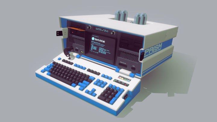 1980s Portable Personal Computer 3D Model