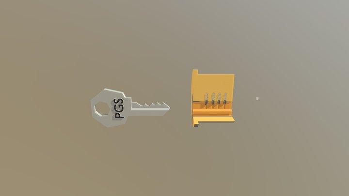 Cerradura Con Movimiento 3D Model
