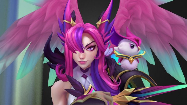 Star Guardian Xayah 3D Model
