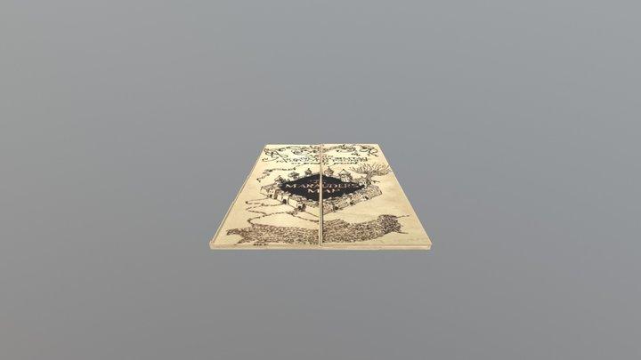 Marauder's Map Closed 3D Model