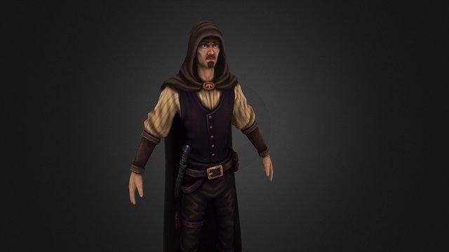 Thief character 3D Model