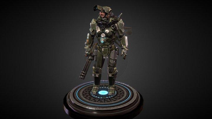 Space Marine CAT 3D Model