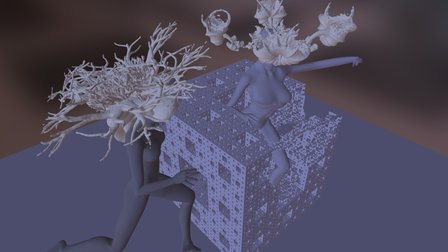3D Fractals and a Menger Sponge in ZBrush 3D Model