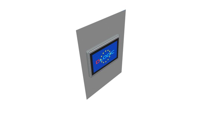 DM1010x-SGF - mounted stand 3D Model