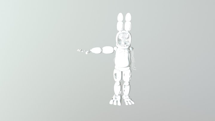 OldBonnie (Withered Bonnie) 3D Model