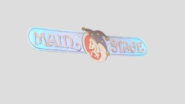 OCF Main Stage Sign 3D Model