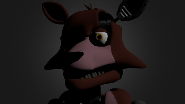 Fnaf 2 Foxy by falling and smoke the bear 3D Model