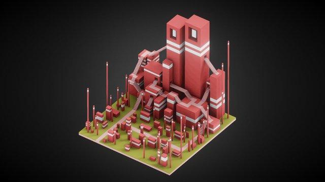 Monument Grid 3D Model