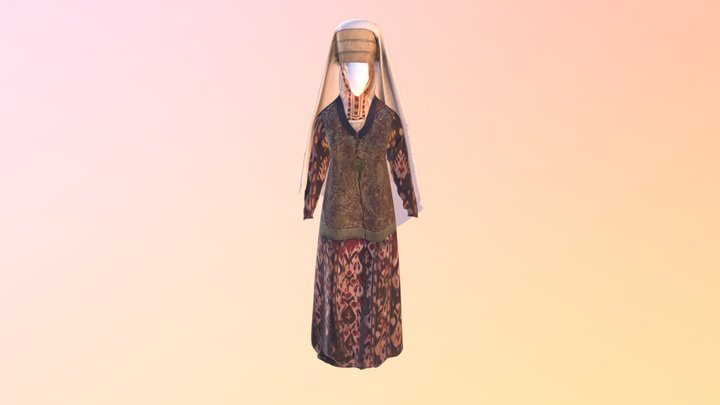 Cloth woman 3D Model
