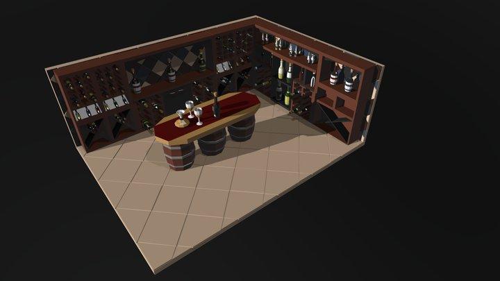 Wine cellar 3D Model