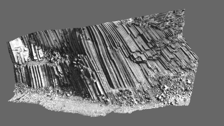 Basalt columns, USA 3D Model