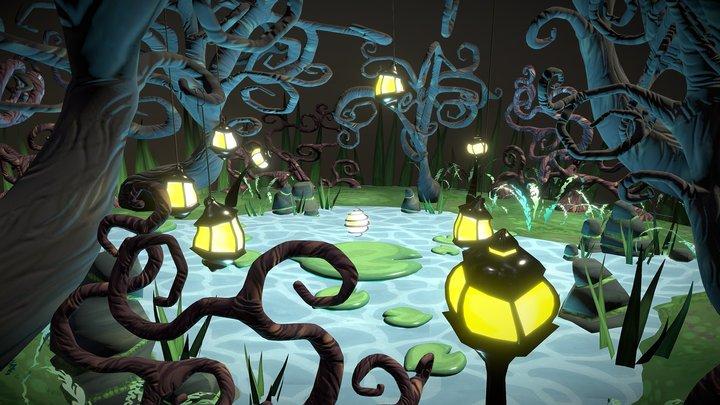 Fairytale Frog Pond 3D Model