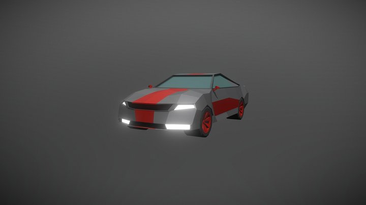 low poly sportscar 3D Model