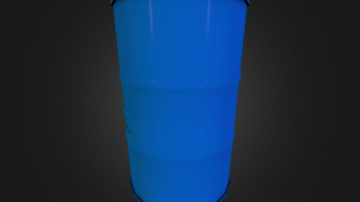 Barrel(Low Poly) 3D Model