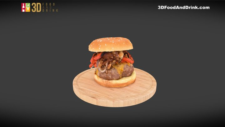 The Grillhouse Burger 3D Model