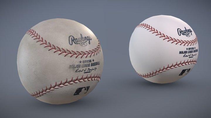 Rawlings Baseball - Clean & Dirty Variants 3D Model