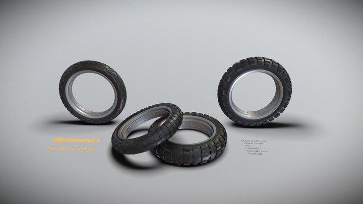 Continental TKC 80 Motorcycle Tires 3D Model