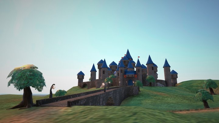 Castle on the hill 3D Model