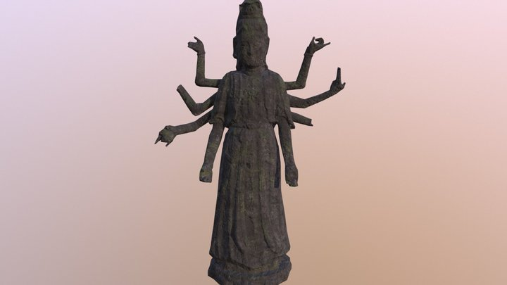 Goddess Statue 3D Model