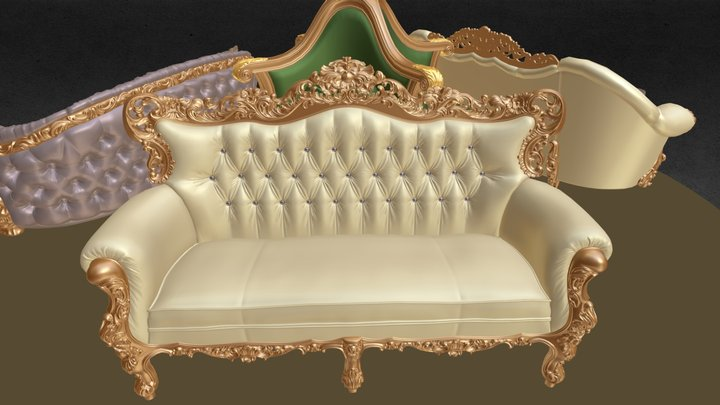 1D BAROQUE SOFAS collection 3D Model