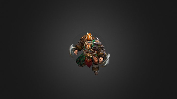 Savage Beast - Lycan set for Dota 2 3D Model